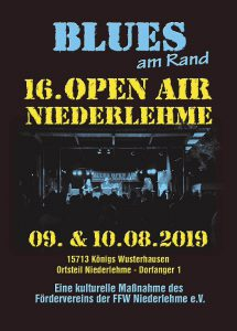 Flyer Blues am Rand 2019 Vorderseite