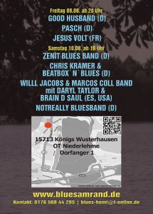 Flyer Blues am Rand 2019 Lineup